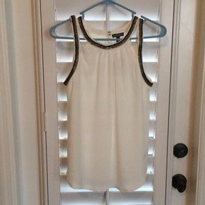 NWT Cutout Tank Top with bead embellishments